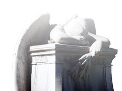 Grief (Creativity+ Timothy K Hamilton) Tags: light white cemetery grave statue angel creativity death 500v20f sad bright tomb tombstone stlouis brightlight gravestone saintlouis stl grief timothykhamilton creativityplus