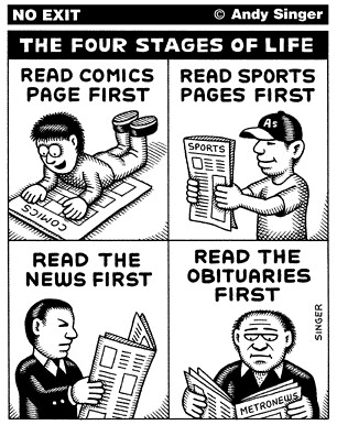 Andy Singer's No Exit: Four Stages of Life | Flickr - Photo Sharing!