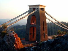 Victorian Taste. (Trapac) Tags: autumn red england tower bristol geotagged pier suspension bridges a4 cliftonsuspensionbridge brunel riveravon isambardkingdombrunel ikb avongorge geo:lat=51456108 geo:lon=2626052