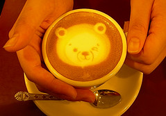 Cappuccino (The_Adventures_of_Stephen_Heckman) Tags: cute art coffee teddy korea teddybear mostfavorited espresso latte cappuccino wink