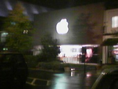 There's a light (Living Juicy) Tags: cameraphone apple store theresalight mac funny