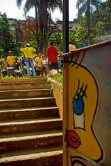 walk the steps ( Tatiana Cardeal) Tags: 2005 brazil brasil digital children drums hope gate sopaulo photojournalism documentary orphanage carf diadema tatianacardeal streetkids favela slum ong ngo brsil documentaire globalpoverty documentario childrenatriskfoundation urbancondition