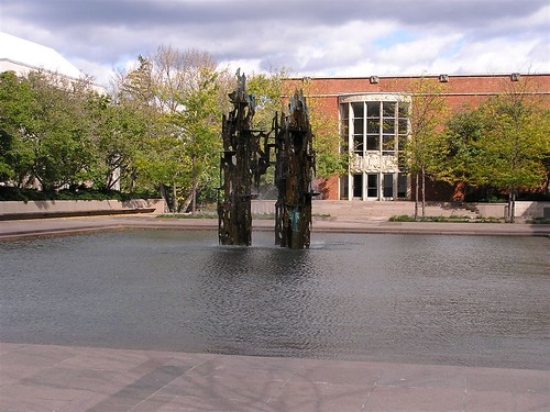woodrow wilson school. Woodrow Wilson School fountain