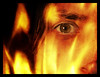 Burning me (Aelle) Tags: me selfportrait occhio eye fuoco fire rosso red giallo yellow photoshop