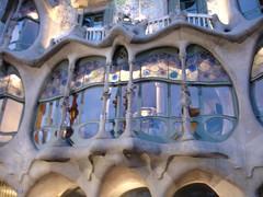 Windows of Casa Batll, Barcelona (itchypaws) Tags: barcelona 2005 spain casabatll