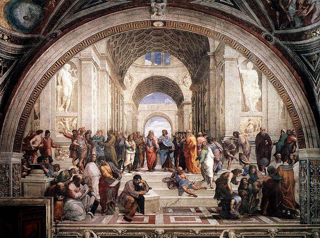 Raphael, School of Athens, 1509-1511, Vatican City, Rome, Italy