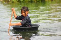 The Bucket brigade kids (jackfrench) Tags: cambodia tonlesap kids people