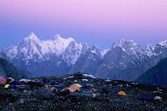 Dawn at Concordia (Kelly Cheng) Tags: pakistan concordia mountain trekday8concordia velvia accommodation paiju baltoro glacier dawn summitpaijupeak altitude6611m elevation65007000m summittrangotower altitude6257m elevation60006500m summitgrandcathedral altitude5866m elevation55006000m tccomp032 mountainshimalaya lpskyline getty pickbykc lpmorning 90048298 gi1107 gettysale