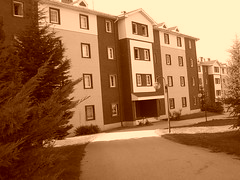 il mio secondo adresse (Marchnwe) Tags: campus street sepia dormitory