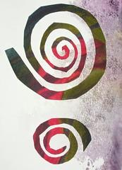 Mystic Spirals (pupski) Tags: spiral paint art artist sketchbook paper cutout notebook collage creative