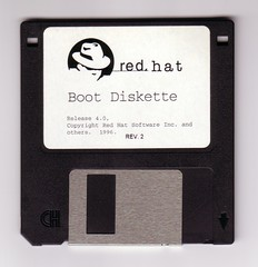 Red Hat Boot Diskette Release 4.0 (dumell) Tags: old metal media label retro plastic disk redhat linux disc 35 obsolete diskette 144 diskettes magneticmedia
