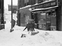 NYC Blizzard of February 6-7, 1978 Brooklyn, Boro Park, New Utrecht Ave - 01 (Whiskeygonebad) Tags: street nyc winter snow storm boys brooklyn play style sidewalk nostalgia 70s snowball 1978 cocacola 1977 seventies candystore throw boropark luncheonette nineteenseventies briersicecream