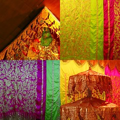 Minangkabau (Farl) Tags: wedding bali colors collage umbrella sumatra indonesia gold restaurant hall embroidery hanging banquet decor tapestry brocade padang songket embroider traveltip minangkabau