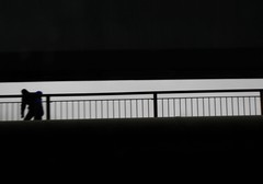 from the car (EssjayNZ) Tags: 2005 bridge newzealand abstract black tag3 taggedout moving tag2 tag1 figure essjaynz carwindow mc05negativespace taken2005 0x242424 sarahmacmillan