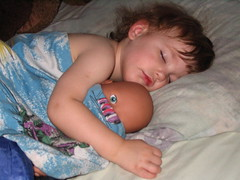 Scarry Doll (endora57) Tags: 2005 tag3 taggedout kids eyes topv333 doll tag2 tag1 sleep grandchild neufeld