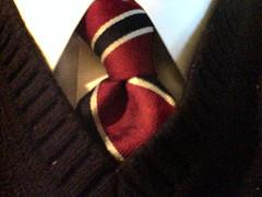 ネクタイをした首元
