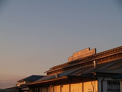 Old Cheese Factory (Catching Magic) Tags: dairy cheese newzealand waikato building factory sunset original olympus e300 mc05negativespace mc05 tiraudan tirau
