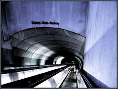 Dupont Metro, South Entrance (katmeresin) Tags: wow dc metro escalator grain creativecommons 100views dcist 300views 200views dupont mereand usedondcist katmere