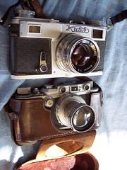 Kiev 4a and Leica IIIa (jiulong) Tags: leica contax sydney