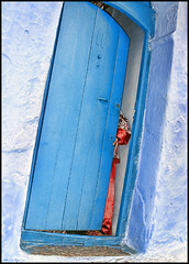 Day Off:  Day Trip:  Chefchaouen, Morocco (shadowplay) Tags: morocco blue chauen red door hand chefchaouen