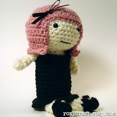 pink hair ramona 2 (Roxycraft) Tags: amigurumi softies plush mos crochet handmade