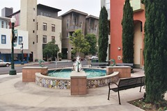 San Diego - Little Italy (jvonr) Tags: 2003 fountain bench sandiego september littleitaly 200309 20030926 travelphotos benchbank benchmarkguide