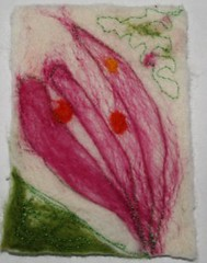 flower (cramzy) Tags: atc felting felt embrioderi embellisher
