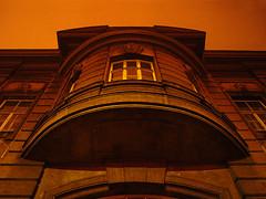 Night is not always blue... (digikuva) Tags: building azul museum architecture night finland helsinki europe angle pentax heiluht elukka