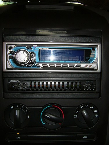 ford f150 red stx 2005 4x4 kenwood radio headunit