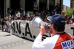 IR Protest: MUA Bullhorn