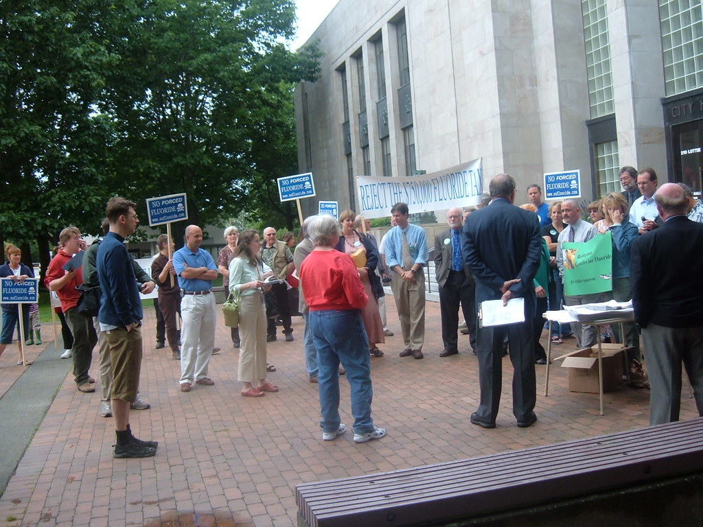 Bellingham residents rally against Fluoride at City Hall