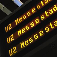 U2 Messestadt Ost (FloSchMUC) Tags: yellow digital underground subway munich mnchen u2 bayern bavaria publictransportation display metro ubahn liquid mvv crytal mvg messestadt ubahnmnchen effpunkt efbadge ubadge floschmuc flosch ubahnmuenchen:line=2