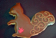 squirrel cookie (candersonclick) Tags: squirrel cookies yumm delicious eatme whiskers tail chocolate potleaforoakleaf macro