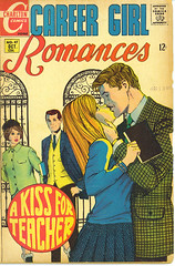 A Kiss For Teacher (Vermont Ferret) Tags: topv111 comics topv333 60s kissing marriage romance moustaches 70s teachers stalking tweed reallife adulteducation nightschool illicitlove basicarithmetic