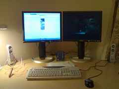 Lifeblog test post (Z303) Tags: desktop test home office lifeblog lcd dualhead