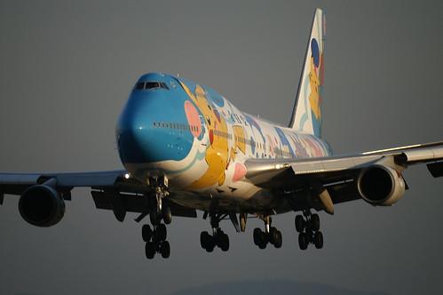 """ANA B747-481D (JA8964 """"Pokémon Jet '99"""") @ ITM/RJOO"""