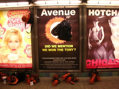 Ads at Times Square subway station
