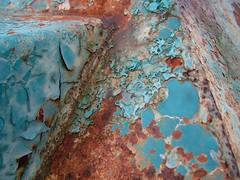 DSCF1480 (detailista) Tags: decay texture rust turquoise verdigris patination paint surface peeling ybp