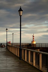 Lights and posts (Ray Byrne) Tags: uk sea england lighthouse water canon 350d coast pier north northumberland lamps northern northeast amble lampposts raybyrne byrneout byrneoutcouk webnorthcouk