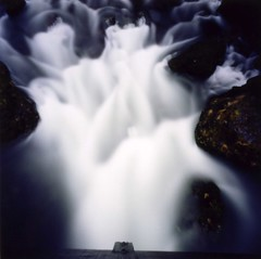 Rushing stream (Zeb Andrews) Tags: nature water oregon wow wonderful square amazing cool nice interesting stream dramatic pinhole stunning pacificnorthwest fabulous incredible columbiarivergorge zeroimage longexposures kodak100uc zeroimagepinhole zero66 bluemooncamera zebandrews zebandrewsphotography