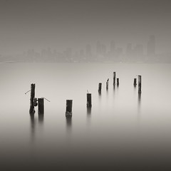 S (brianchapman) Tags: seattle longexposure urban water washington topv555 bravo alki pilings artlibre artlibrewinner