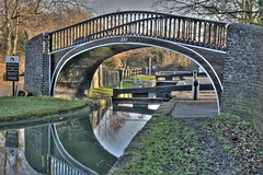 Isis Lock (Robert Silverwood) Tags: bridge reflection water thames wow river wonder canal lock canon20d oxford castiron topv777 isis oxfordshire hdr oxon photomatix top20hdr