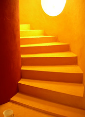 Stairs in Sheraton Miramar Resort El Gouna, Egypt (mnadi) Tags: flowers sunset red summer vacation sky orange holiday abstract flower color colour window colors yellow stairs garden hotel nikon colorful warm colours artistic outdoor redsea curves stock creative egypt passages warmth sunny resort arabic