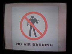 No Air Banding (saaam) Tags: television sign tv air airguitar scrubs airband airbanding