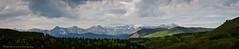 Sheep River Valley Panorama (Witty nickname) Tags: trees panorama mountains green clouds landscape kananaskis rockies pano east alberta rockymountains kananaskiscountry sheeprivervalley therockymountains nikkor70200mmf28vr nikond800 eastkananaskis