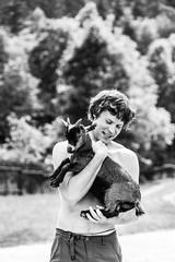 farmer (I.Dostl) Tags: white man black nature tom hug goat farmer