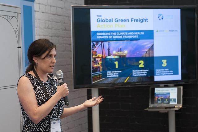 Rachel Muncrief presenting