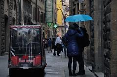 Rainy (faungg's photos) Tags: street city people urban rain umbrella florence europe scene rainy     iatly