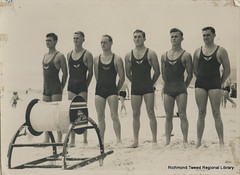 Byron Bay R & R Team, c1938 (RTRL) Tags: byronbay surfclub surflifesaving
