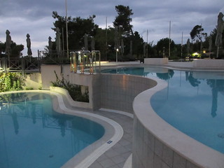 Curving pools, Hotel Monte Mulini, Rovinj, Croatia
